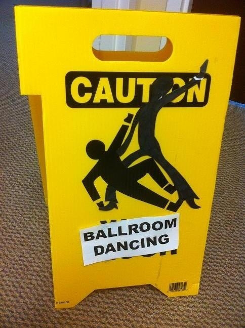caution ballroom dancing