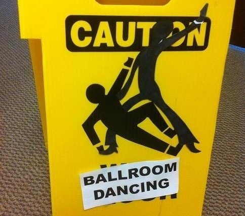 caution ballroom dancing